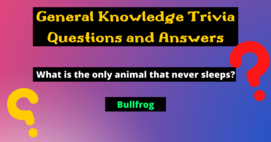 General Knowledge Trivia Questions and Answers